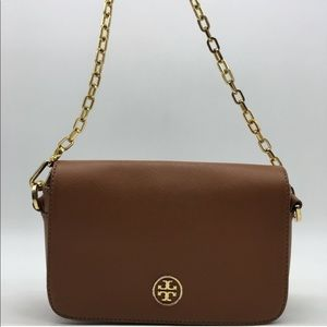 Tory Burch brown crossbody with chain strap